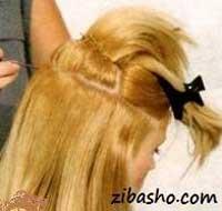 زیبا,آموزش یک مدل شینیون