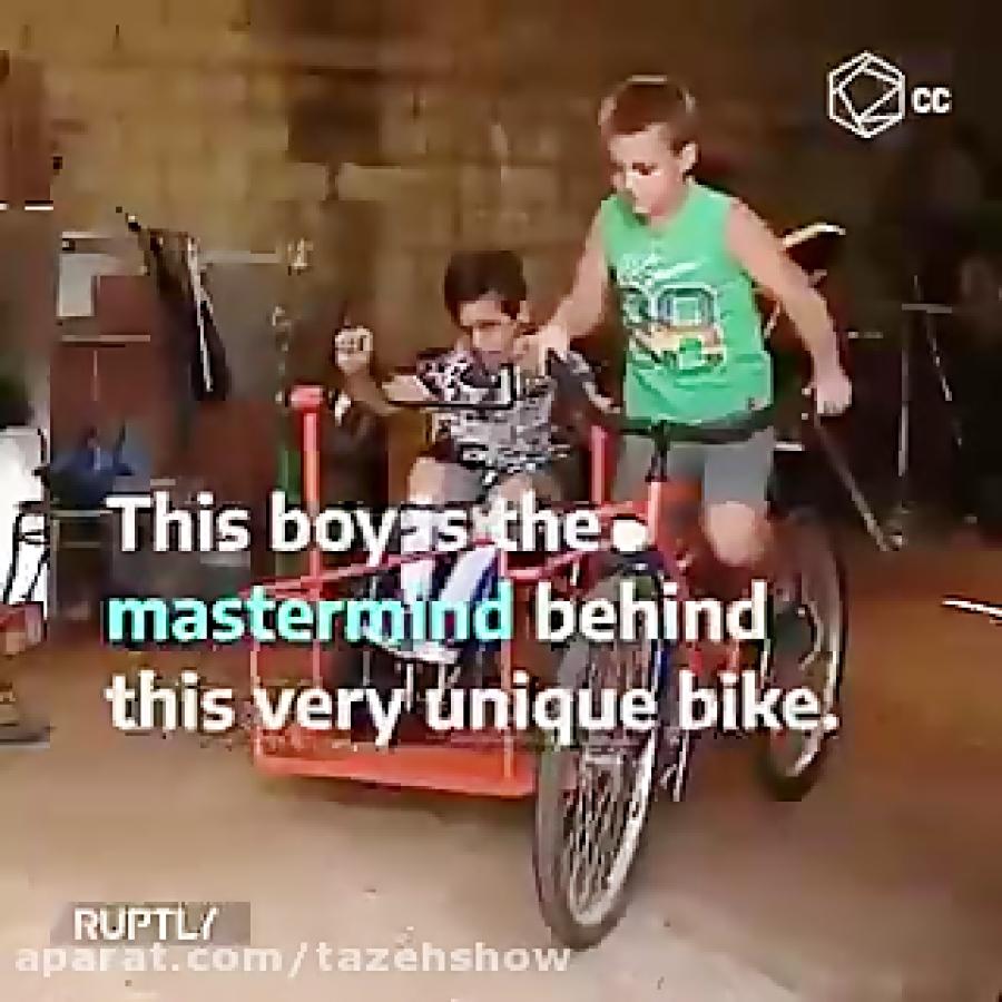 پسری که برای پسرعموی معلولش دوچرخه طراحی کرد