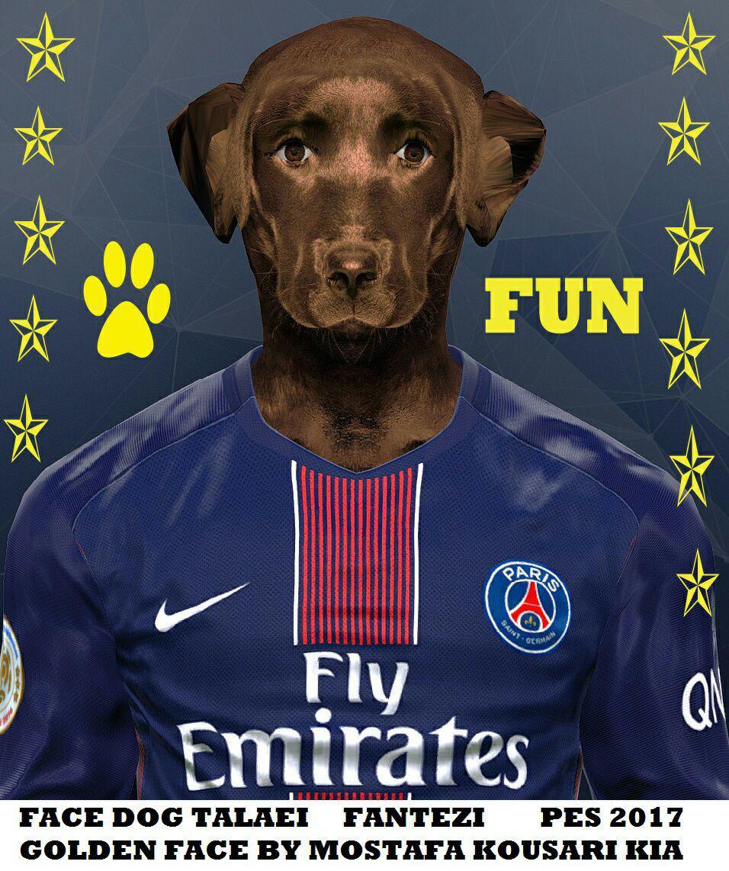 دانلود فیس سگ قهوه ای خارجی ورژن ۲ در pes2017