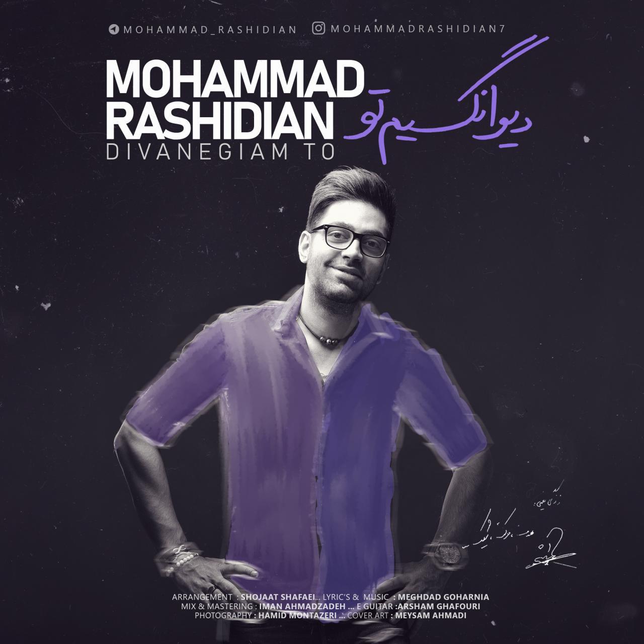 دانلود آهنگ جدید محمد رشیدیان به نام دیوانگیم تو