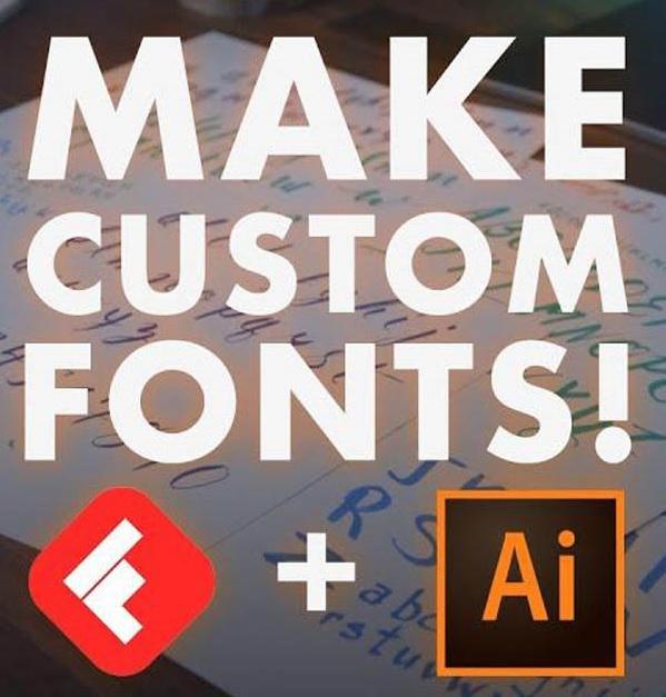 نحوه ی ساخت فونت دلخواه به کمک برنامه ی Adobe Illustrator و Fontself
