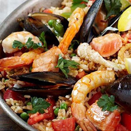 طرز تهیه ی ناهار دریایی با میگو پلو و سبزیجات