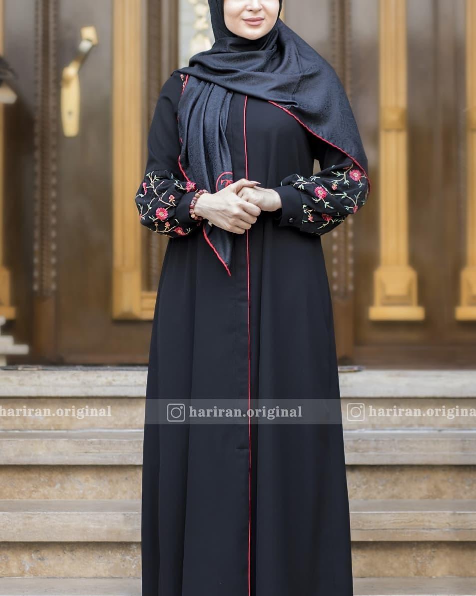 مدل مانتو بلند مشکی زنانه 2019