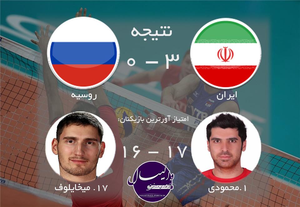 ایران با 6 امتیاز کامل روسیه را ترک کرد