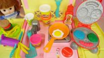 بازی کودکانه دخترانه عروسک کوچولو و آموزش مرحله به مرحله آشپزی