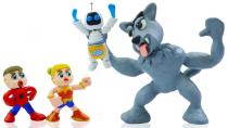 کارتون شاد کودکانه گرگ بزرگ و ربات