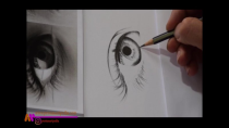 آموزش طراحی چشم سیاه قلم