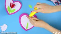 آموزش ساخت کارت پستال گل لاله