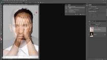 آموزش ویدئویی اکشن فتوشاپ قرار دادن صورت بر روی دست ها