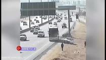 حرکت دنده عقب اتوبوس در اتوبان فاجعه آفرید