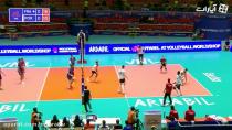خلاصه بازی والیبال پرتغال 0 - 3 فرانسه