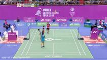 مسابقه بدمینتون نیمه نهایی دوبل زنان - چین و تایپه 2019