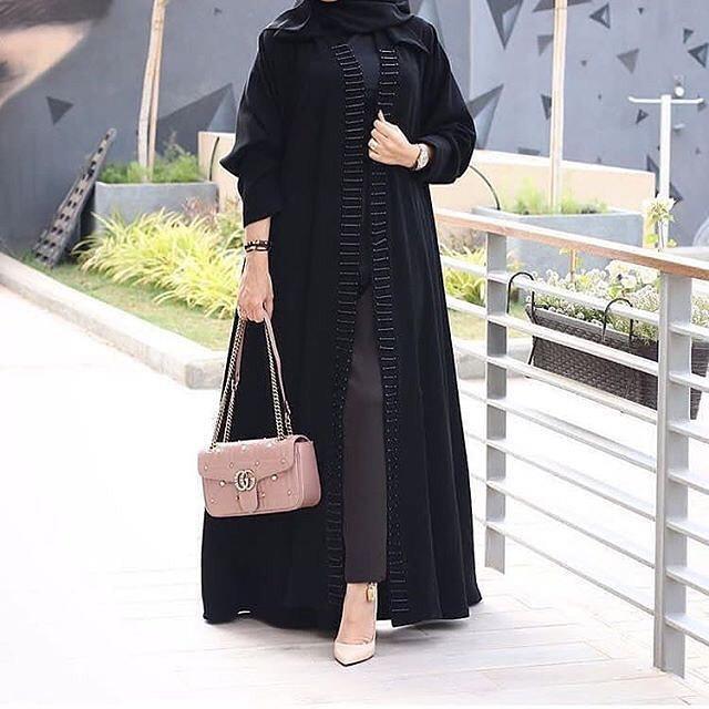 مدل مانتو مشکی بلند دخترانه