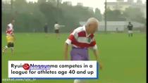 راگبی بازی کردن پیرمرد ۸۶ ساله در ژاپن