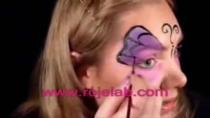 فیلم آموزش گریم کودک پروانه