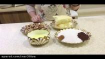 طرز پخت شیرینی گردویی به سبک قنادی با جزئیات کامل و آسان