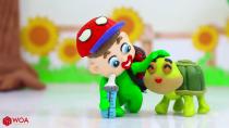 کارتون کودکانه خمیر بازی - یادگیری رنگ ها با لاستیک ماشین