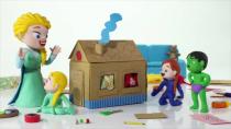 کارتون السا وانا - این قسمت السا و انا شن بازی می کنند
