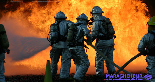 تسلیت شهادت جمعی از آتش نشانان