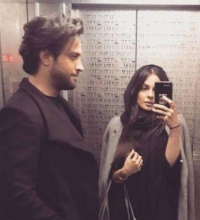 عکس های آسانسوری بنیامین و همسرش شایلی
