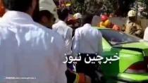 فیلم عملیات نجات حادثه سقوط جرثقیل