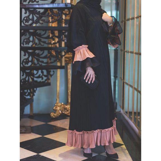 مدل مانتو بلند مشکی دخترانه
