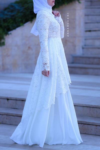 مدل لباس عروس بلند پوشیده