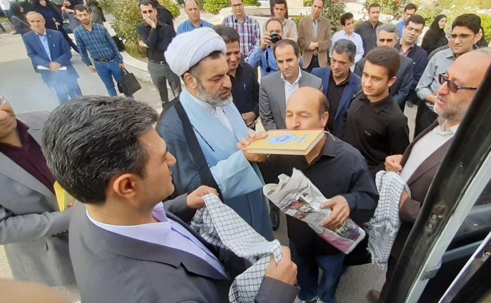 بدرقه کاروان زیارتی کربلای معلی در دانشگاه آزاد اسلامی مراغه