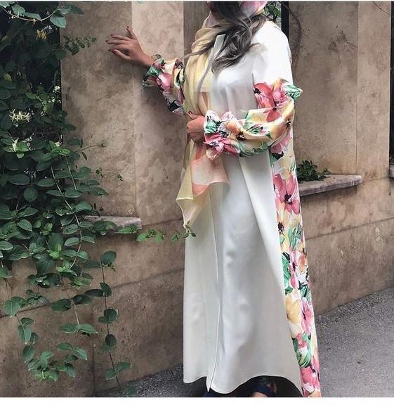 مدل مانتو بلند مجلسی گلدار
