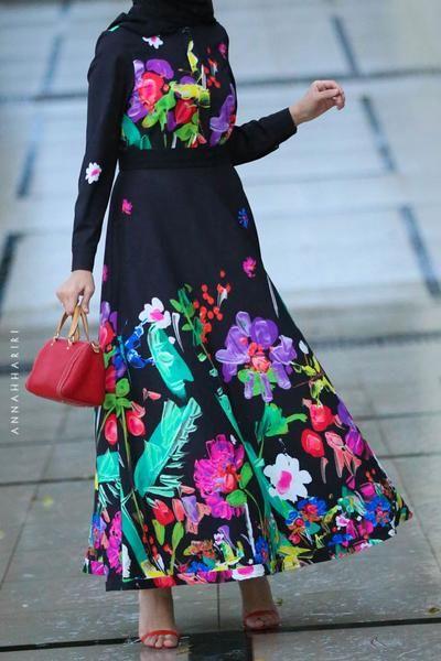 مدل مانتو با پارچه گلدار درشت