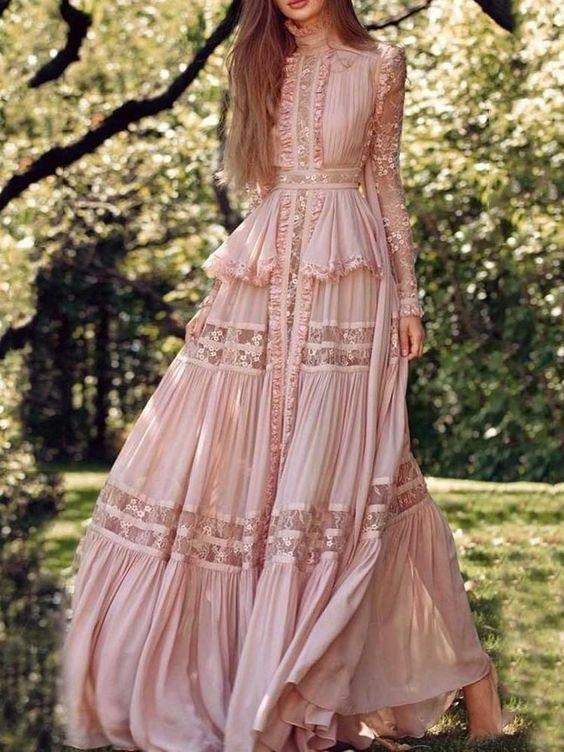 مدل لباس مجلسی زنانه بلند و شیک