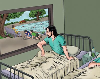 داستان کوتاه در مورد پنجره بیمارستان
