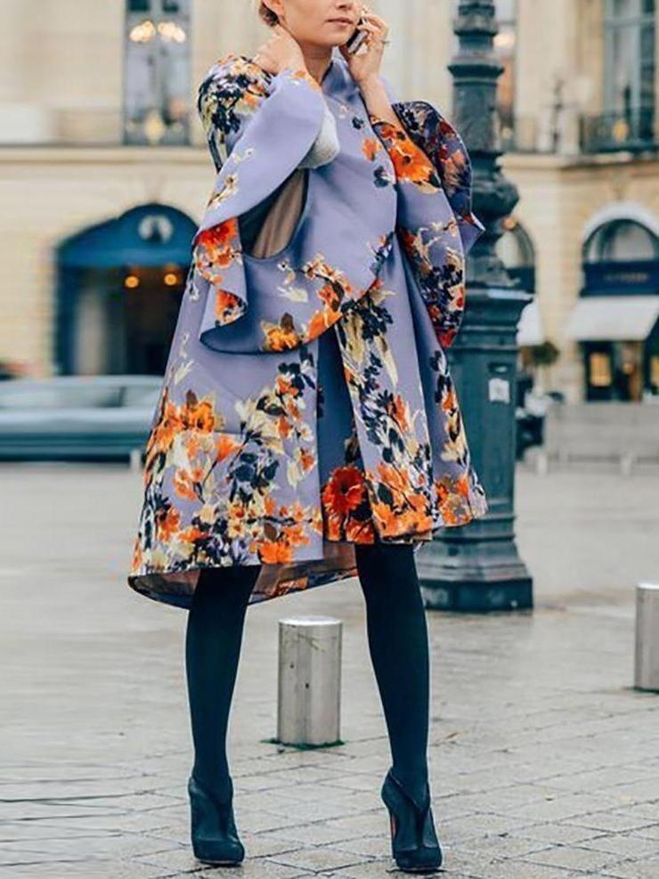 مدل مانتو پاییزی گل دار2019