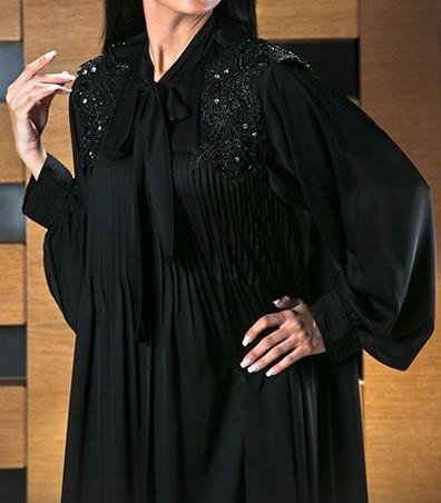 مدل مانتو مجلسی مشکی بلند جدید