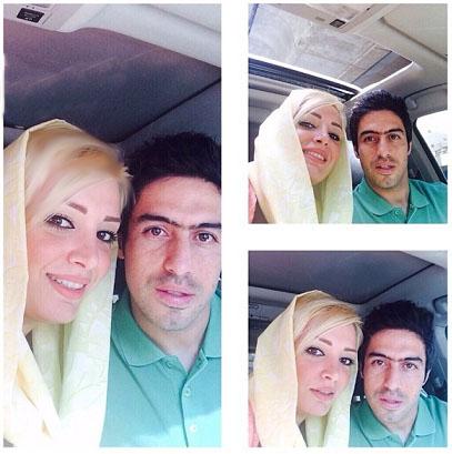 عکس سلفی خسرو حیدری با همسرش