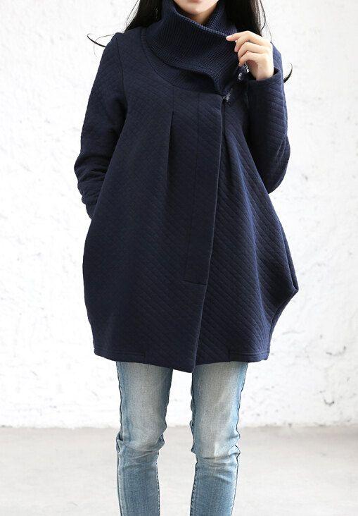مدل مانتو زمستانی بافتنی