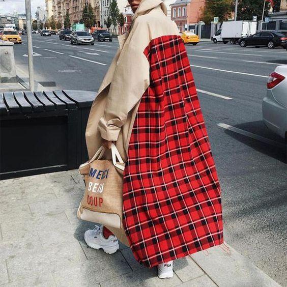 مدل پالتو چهارخونه جدید دخترانه