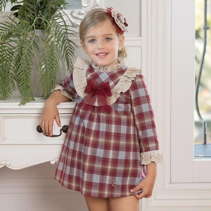 مدل لباس دختربچه باپارچه نخی
