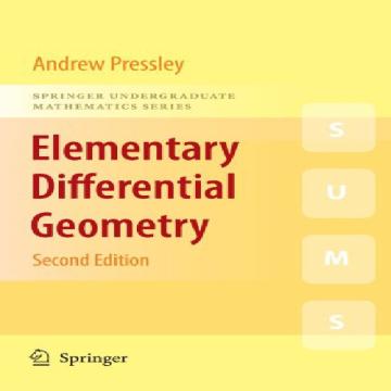 حل تمرین کتاب هندسه دیفرانسیل مقدماتی Pressley - ویرایش دوم