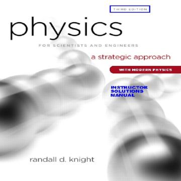 حل تمرین کتاب فیزیک برای دانشمندان و مهندسان Knight - ویرایش سوم