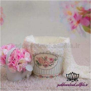 بک دراپ نوزاد سطل و گلدان آبپاش-کد 1372