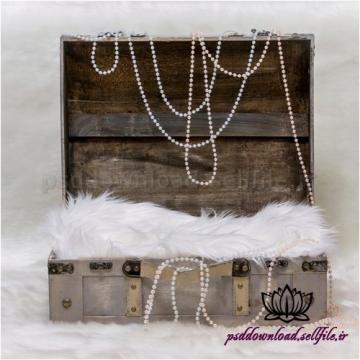 بک دراپ نوزاد چمدان و جواهرات-کد 1374