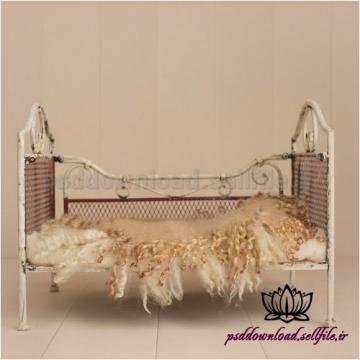 بک دراپ نوزاد تخت خواب آهنی -کد 1515