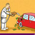 عکس های خنده دار و کاریکاتور گرانی بنزین و بنزین دو نرخی