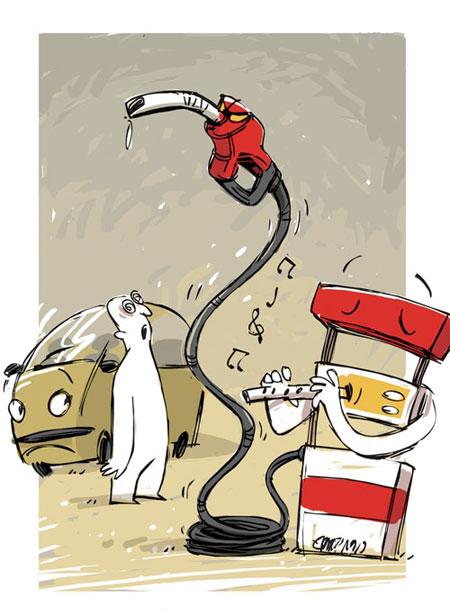 عکس های خنده دار گرانی بنزین و دو نرخی شدن