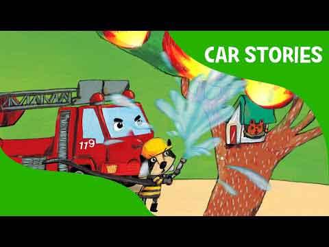 داستان برای کودکان-انگلیسی-Lil's Red's First Fire | Car Stories