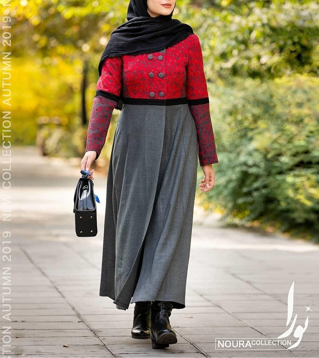 مدل مانتو بلند زنانه زمستانی