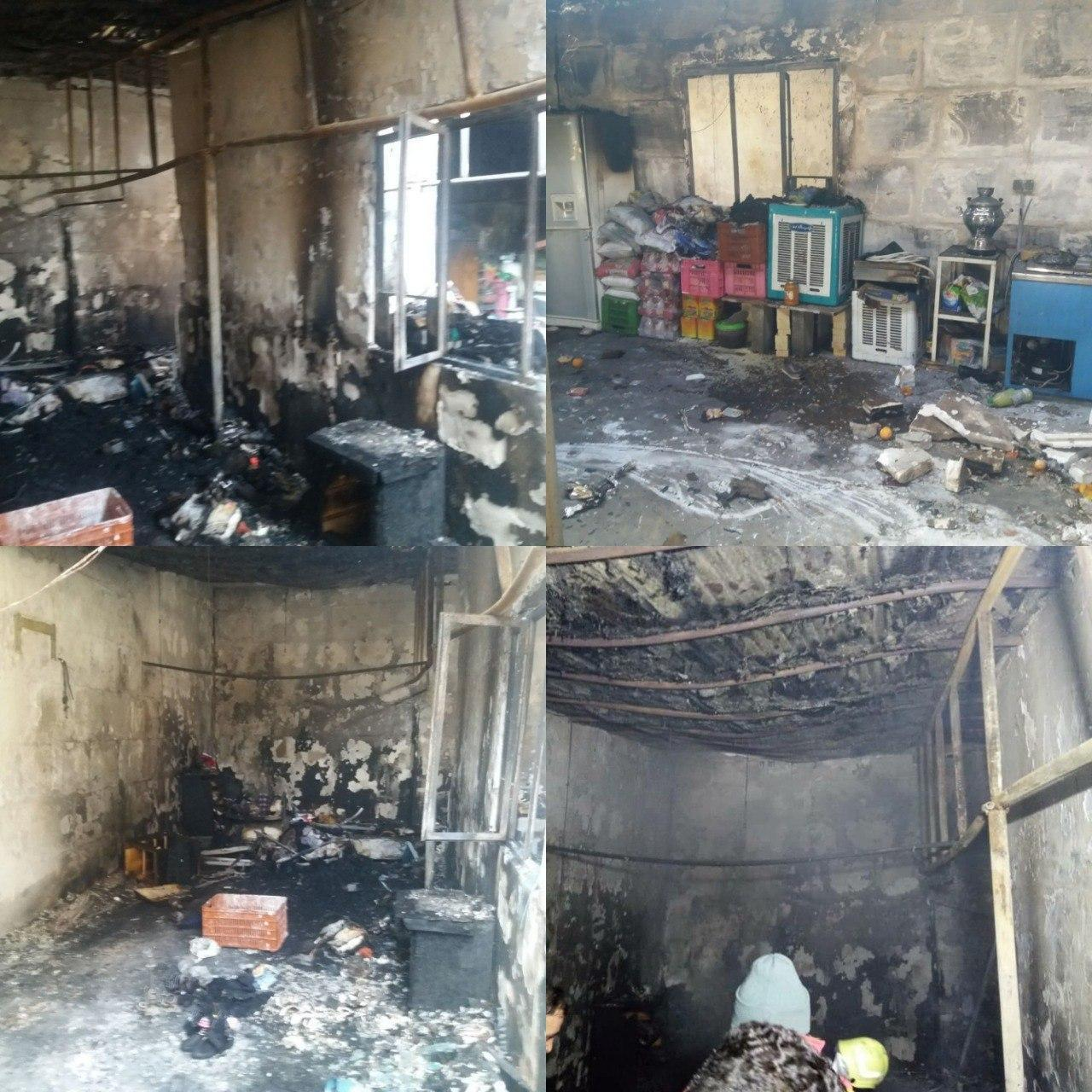 حريق يك واحد مسكوني در محله بکه شهر وحیدیه