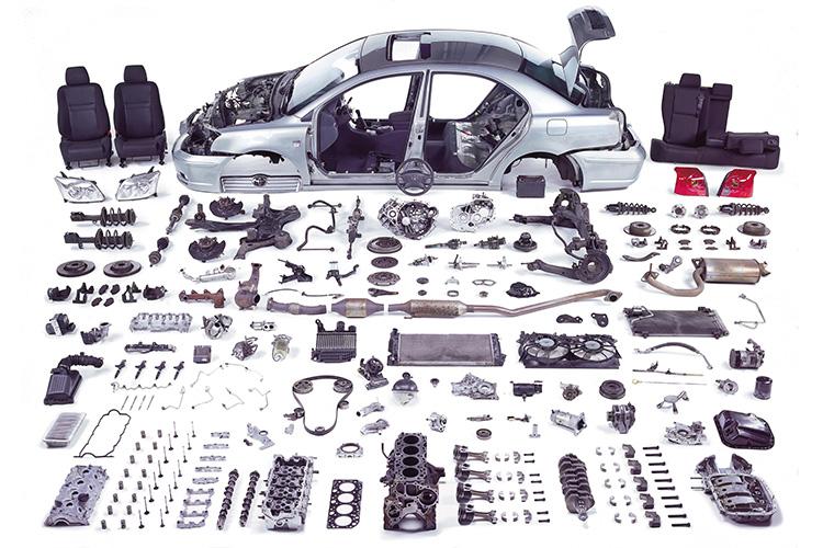 آشنایی با مهمترین قطعات خودرو