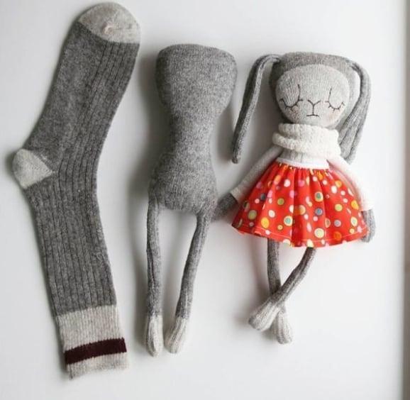 ساخت عروسک با جوراب ساده
